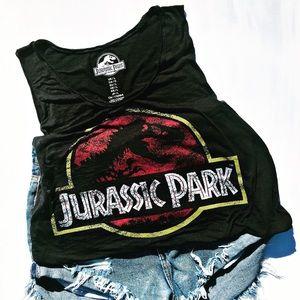 Tops - Jurassic Park Muscle Tank Top Ladies